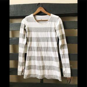 Lululemon reversible striped long sleeve shirt 8